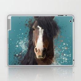 Black Brown Horse Artwork Laptop & iPad Skin