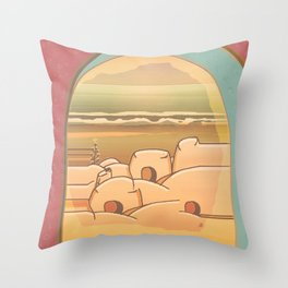 Beached Labyrinth Throw Pillow