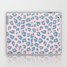 Leopard Print - Peachy Blue Laptop & iPad Skin