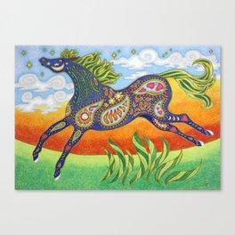 Blue Dream Horse Canvas Print