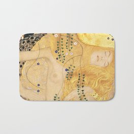 Water Serpents - Gustav Klimt Bath Mat