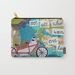 Not all who Wander are Lost - Red Tandem Bicycle Carry-All Pouch