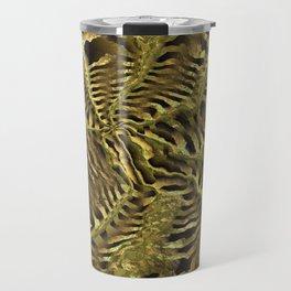 Golden art design Travel Mug