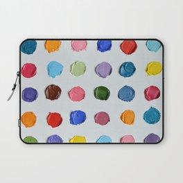 Rainbow Polka Daubs Laptop Sleeve