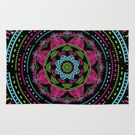 Mandala Energy in Neon Rug