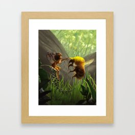 Faerie and Bee Framed Art Print