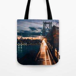 One second in life of Williamsburg Bridge Tote Bag