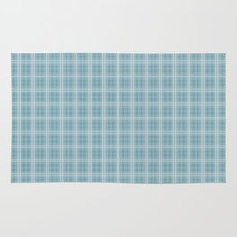 Christmas Icy Blue Velvet Tartan Check Plaid Rug