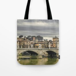 Tiber River Rome Cityscape Photo Tote Bag