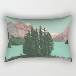 Jasper National Park Poster Rectangular Pillow