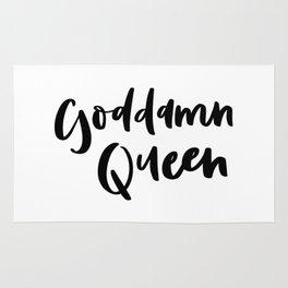 Goddamn Queen Rug