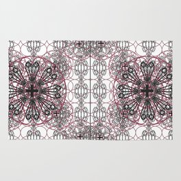 Gothic ornamental architectural Rug