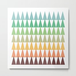 Colorful Corn Mountains Metal Print