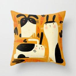 BUNNY PATCH Throw Pillow