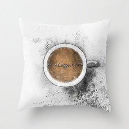 Coffee Heartbeat Throw Pillow