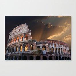 The Coliseum of Ancient Rome Canvas Print