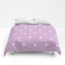 Polka Dots Lavender Lilac Purple Comforters