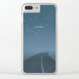 "Jack Kerouac ""On the Road"" - Minimalist literary art design, bookish gift Clear iPhone Case"