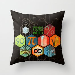 Math Game in black Throw Pillow
