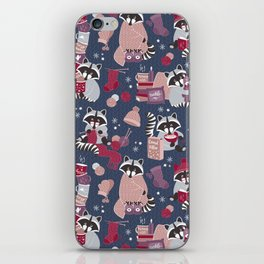 Hygge raccoon iPhone Skin