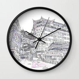 ShenZhen. China. Market Wall Clock