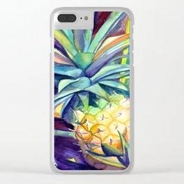 Kauai Pineapple 4 Clear iPhone Case