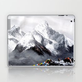 Panoramic View Of Everest Mountain Laptop & iPad Skin