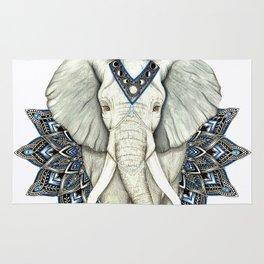 Zen Elephant Mandala Rug