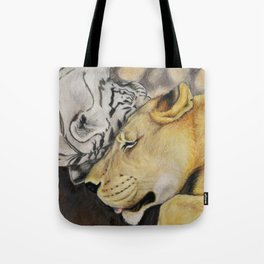 """CamBu"" Cameron Lion & Zabu Tiger Tote Bag"