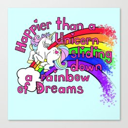 Happy Unicorn Canvas Print