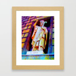st. denis Framed Art Print