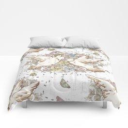 Retro Spring Love Birds Comforters