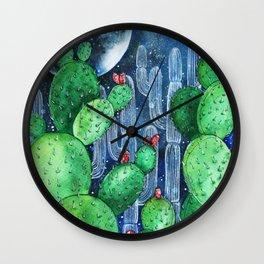 Cactus Nocturno Wall Clock