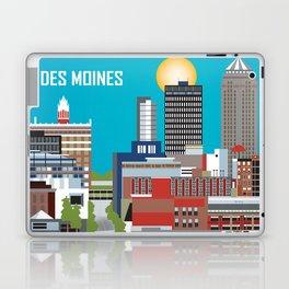 Des Moines, Iowa - Skyline Illustration by Loose Petals Laptop & iPad Skin