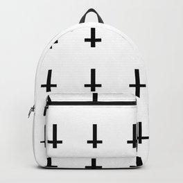 Upside Down Cross Pattern Backpack