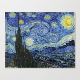 The Starry Night by Vincent van Gogh Canvas Print
