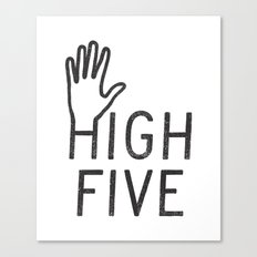 High Five Canvas Print