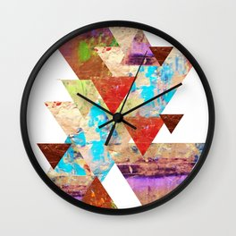 More than gold triangles Wall Clock