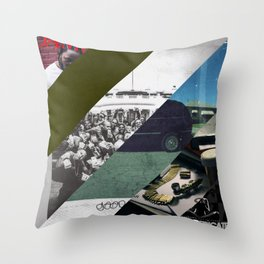 Kendrick lamar cover collage Throw Pillow