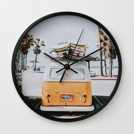 lets surf / venice beach, california Wall Clock