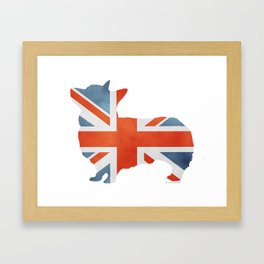 Union Jack Corgi Framed Art Print