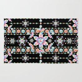 Folkloric Snowflakes Rug