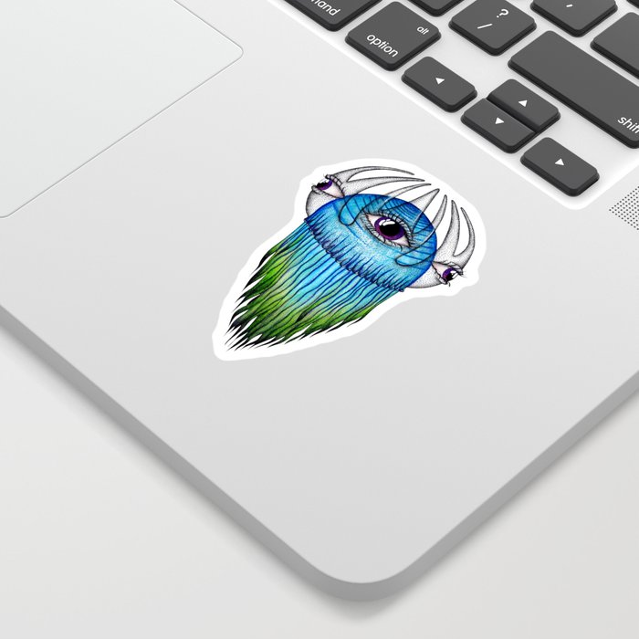 Purple Eye Jellyfish Sticker
