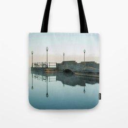 Cazenovia Lake On A Misty Morning Tote Bag