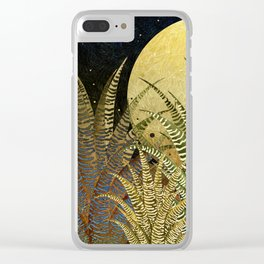 """Golden aloe Zebra midnight sun"" Clear iPhone Case"
