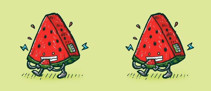 Watermelon Bot Coffee Mug