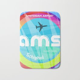 AMS Amsterdam airport Bath Mat