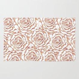 Elegant romantic rose gold roses pattern image Rug