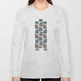 Cassette Tape Pattern Long Sleeve T-shirt