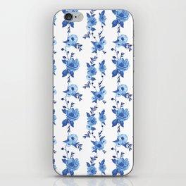 CB x SK BLUE FLORAL iPhone Skin